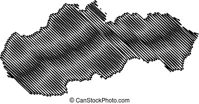 Slovakia map vector
