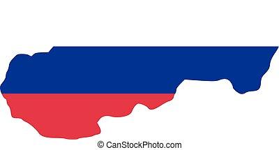 Slovakia map with flag