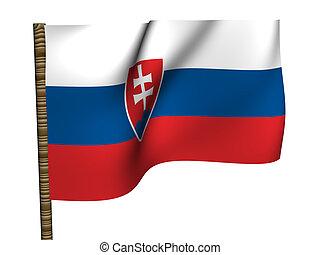 Slovakia. National Flag