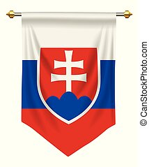 Slovakia Pennant - Slovakia flag or pennant isolated on...