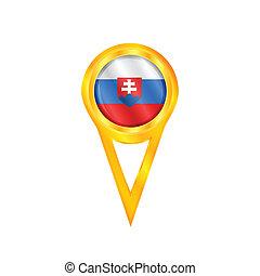 Slovakia pin flag