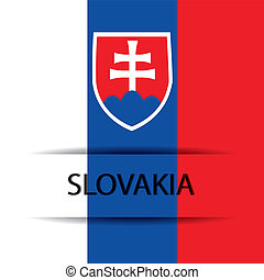 Slovakia text on special background allusive to the flag