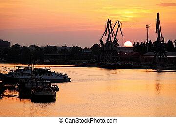 slovakia, the industrial port of komarno