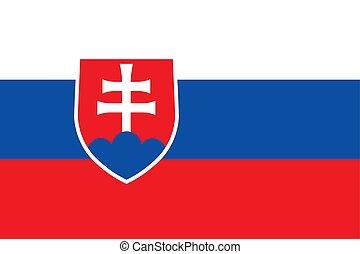Slovakia vector flag. The flag of Slovakia. Bratislava