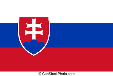Slovakian Flag Isolated
