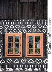 slovaquie, village, cicmany