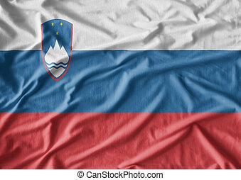 slovenië vlag, achtergrond, weefsel, textuur