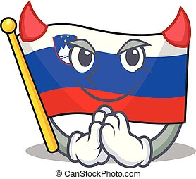 slovenia 旗, 特徴, 悪魔, 漫画, 隔離された