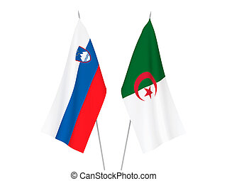 Slovenia and Algeria flags - National fabric flags of ...