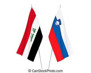 Slovenia and Iraq flags - National fabric flags of Slovenia ...