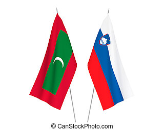 Slovenia and Maldives flags - National fabric flags of ...