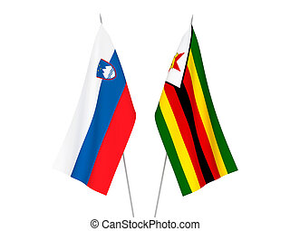 Slovenia and Zimbabwe flags - National fabric flags of ...