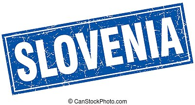 Slovenia blue square grunge vintage isolated stamp