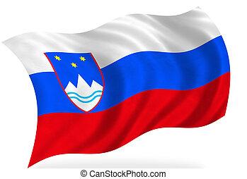 Slovenia flag, isolated