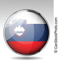 Slovenia flag button