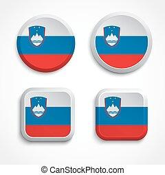Slovenia flag buttons