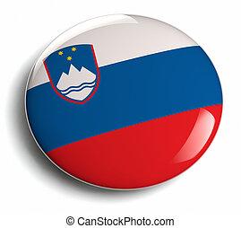 Slovenia flag design round badge.