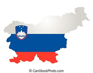 Slovenia Flag - Flag and coat of arms of the Republic of...