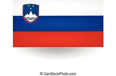Slovenia Flag - Official flag of Slovenia.
