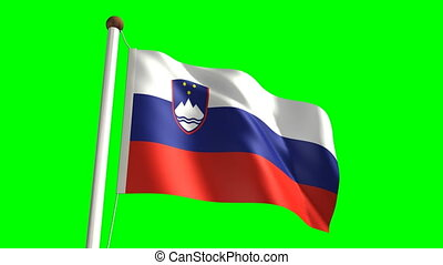 Slovenia flag video (seamless & green screen)