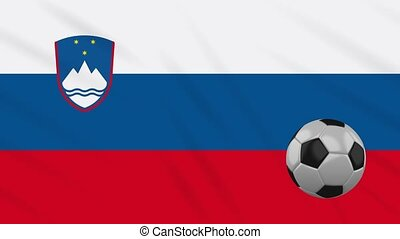 Slovenia flag waving and football rotates, loop - Slovenia ...