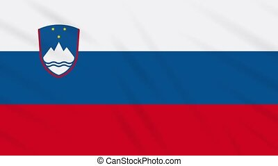 Slovenia flag waving cloth background, loop - Slovenia flag ...
