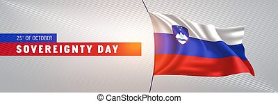 Slovenia happy sovereignty day greeting card, banner vector ...