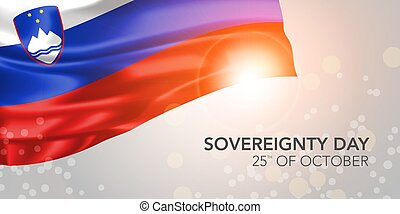 Slovenia happy sovereignty day vector banner, greeting card...