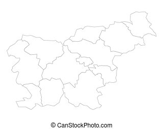Slovenia - map of statistical regions - Blank political map ...