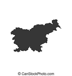 Slovenia map silhouette