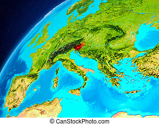 Slovenia on Earth from space