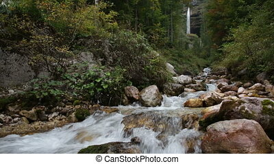 Slovenia, Perechnik waterfall in the Triglav National Park