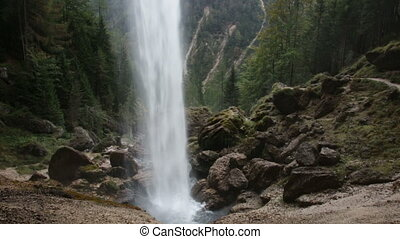Slovenia, Perechnik waterfall in Triglav National Park