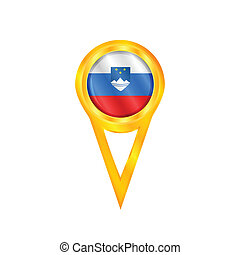 Slovenia pin flag