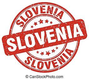 Slovenia red grunge round vintage rubber stamp