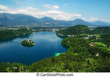 slovenia., saigné, lac