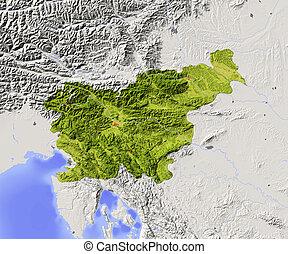 Slovenia, shaded relief map - Slovenia. Shaded relief map...