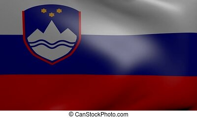 slovenia strong wind flag