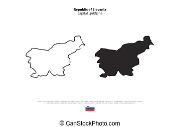slovenia - Republic of Slovenia isolated map and official...