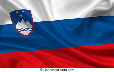 Slovenia - waving flag of slovenia