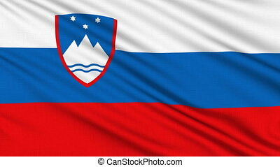 Slovenian flag, with real structure of a fabric