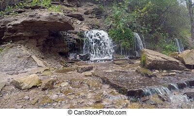 Slovenian waterfalls in Izborsk, Pskov region of Russian...