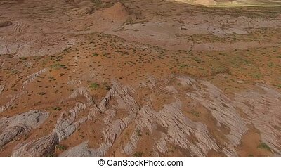 Slow aerial -Desert Landscape,
