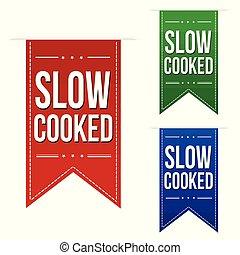 Slow cooked banner design set