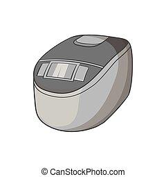 Slow cooker icon, black monochrome style