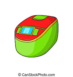 Slow cooker icon, cartoon style