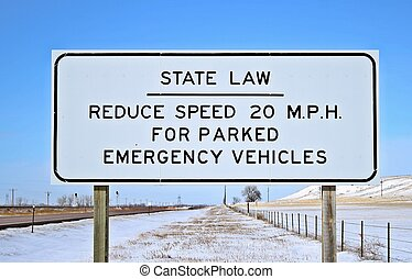 Slow down for emergency vehicled