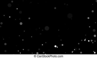 Slow drop of small round white balls on a black background HD 1080