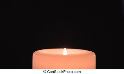 Slow flame of a candle - clip