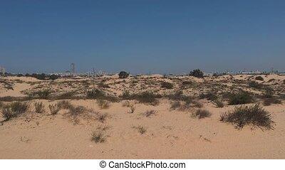 Slow flight in low altitude hight over dunes - Slow flight...